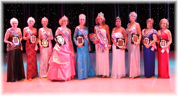 Ms. Senior America 2013, Carolyn Corlew with the 2013 Finalists