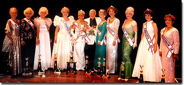 The Top 10 at the 1998 Ms. Senior America Pageant