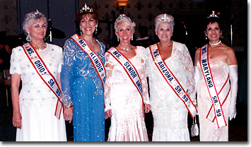 Ms. Senior America 1999, Joyce Reilly Clautice and Her Court